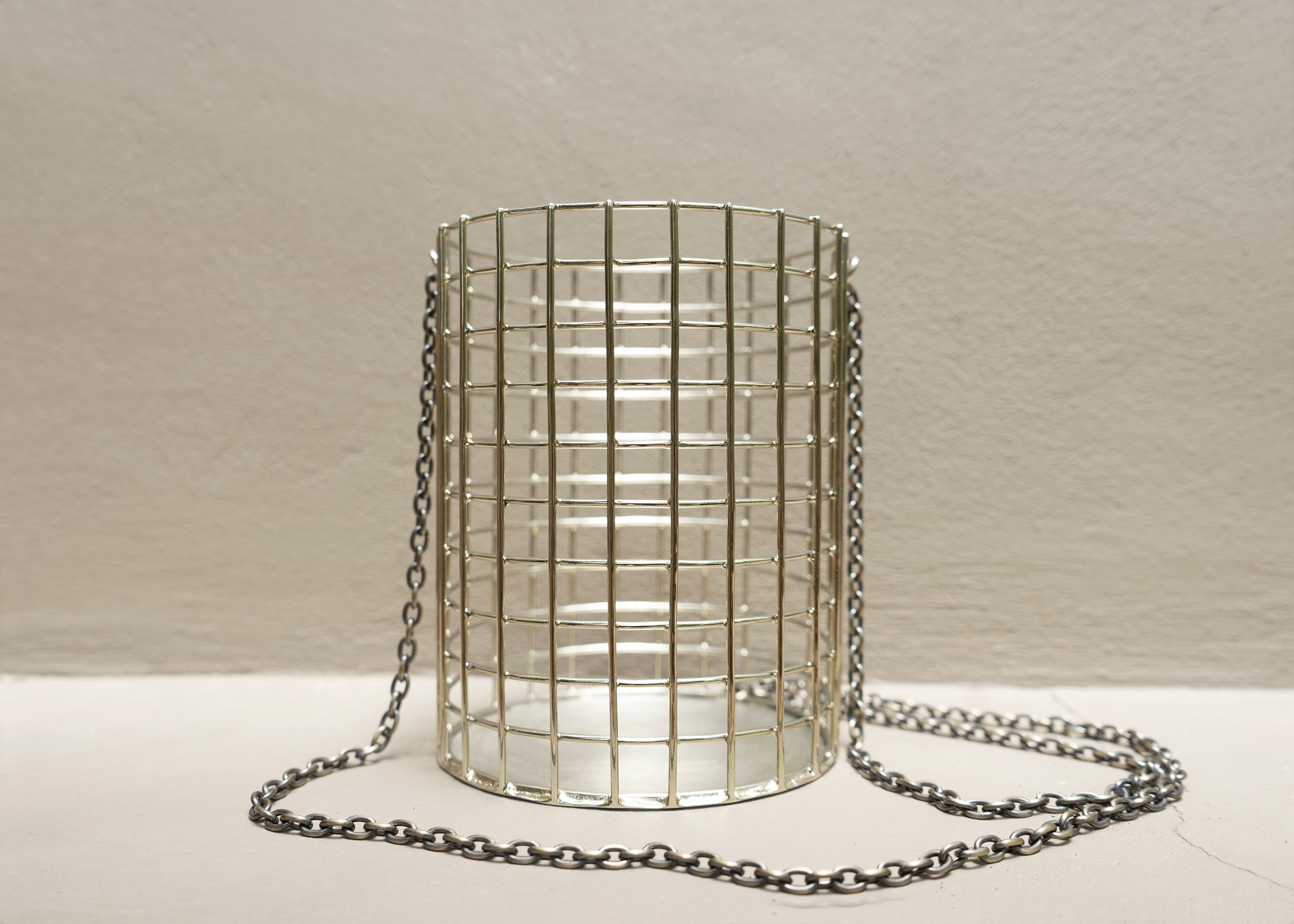 Cylinder Bucket Cage Bag