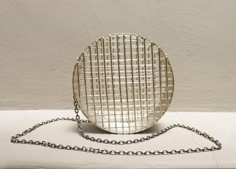Circle Cage Purse