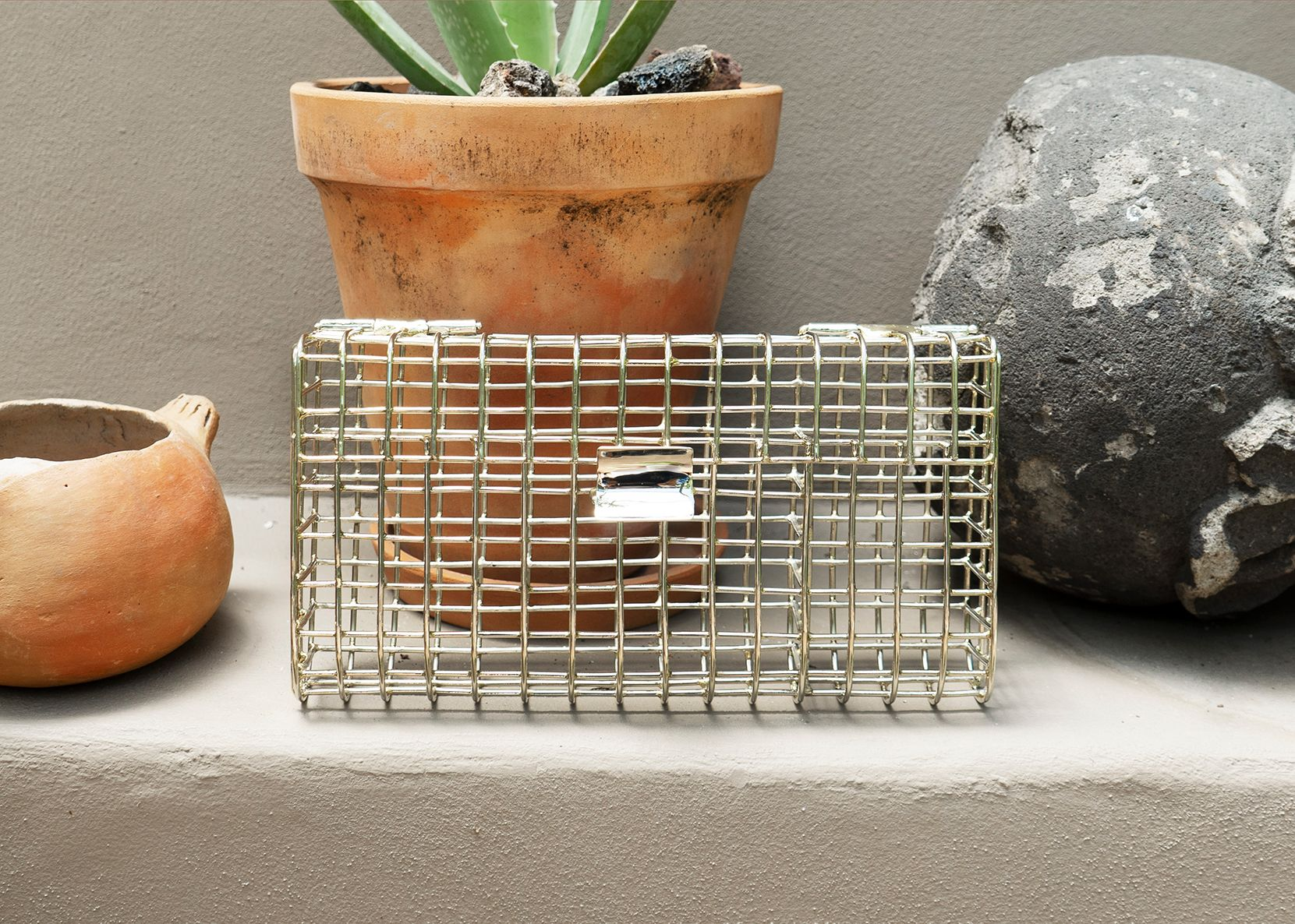 Rectangle Cage Clutch