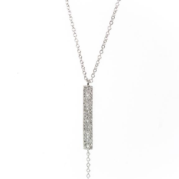 DIamond Bar Lariat Necklace
