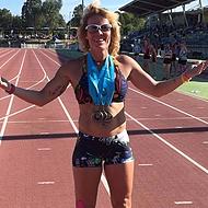 Richelle Ingram World Masters Beach & Track Champion