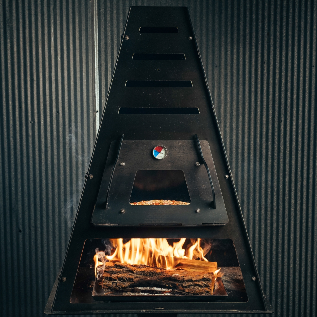 pizza in wood fired pizza oven kit - Pyro Tower