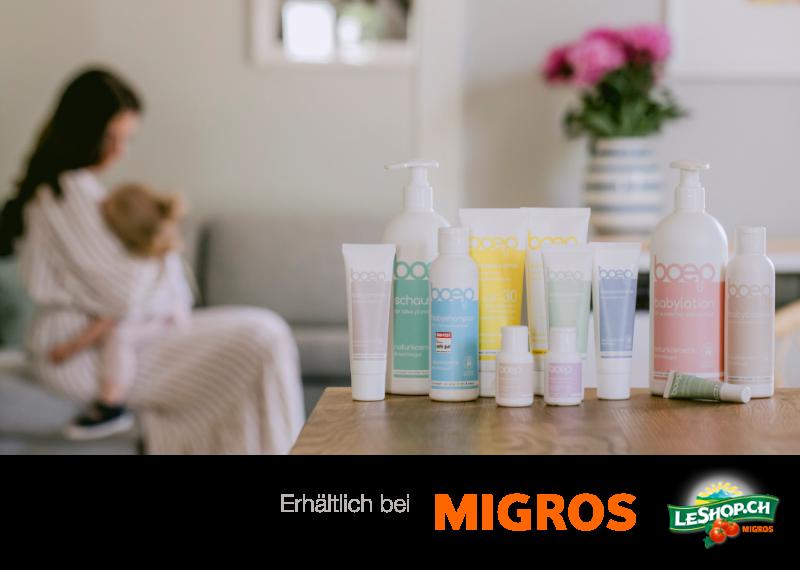 das boep Babypflege ist jetzt bei dm in Österreich erhältlich!
