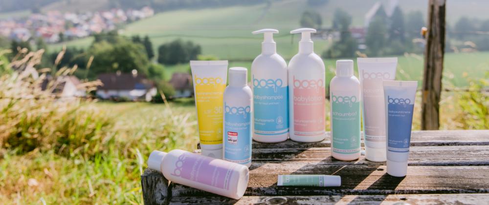 Die natürliche Hautpflege von das boep für Babys und Kinder wird in Deutschland hergestellt