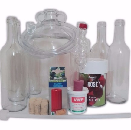 Brewers Barn 6 Bottle Wine Equipment Starter Set