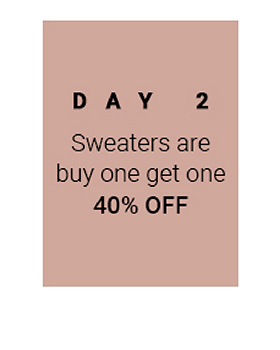 12 Days of Chaser, Day 2 - Buy One Sweater, get the Second for 40% off