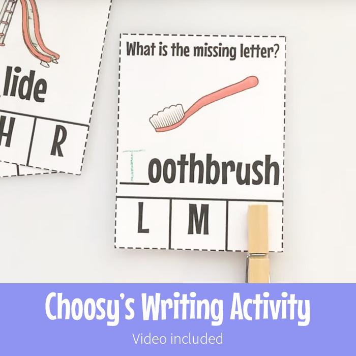 Choosy's Writing Activity