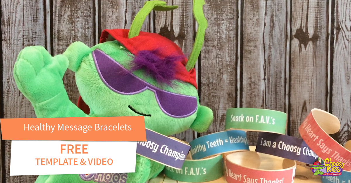 Healthy Message Bracelet with Free Video