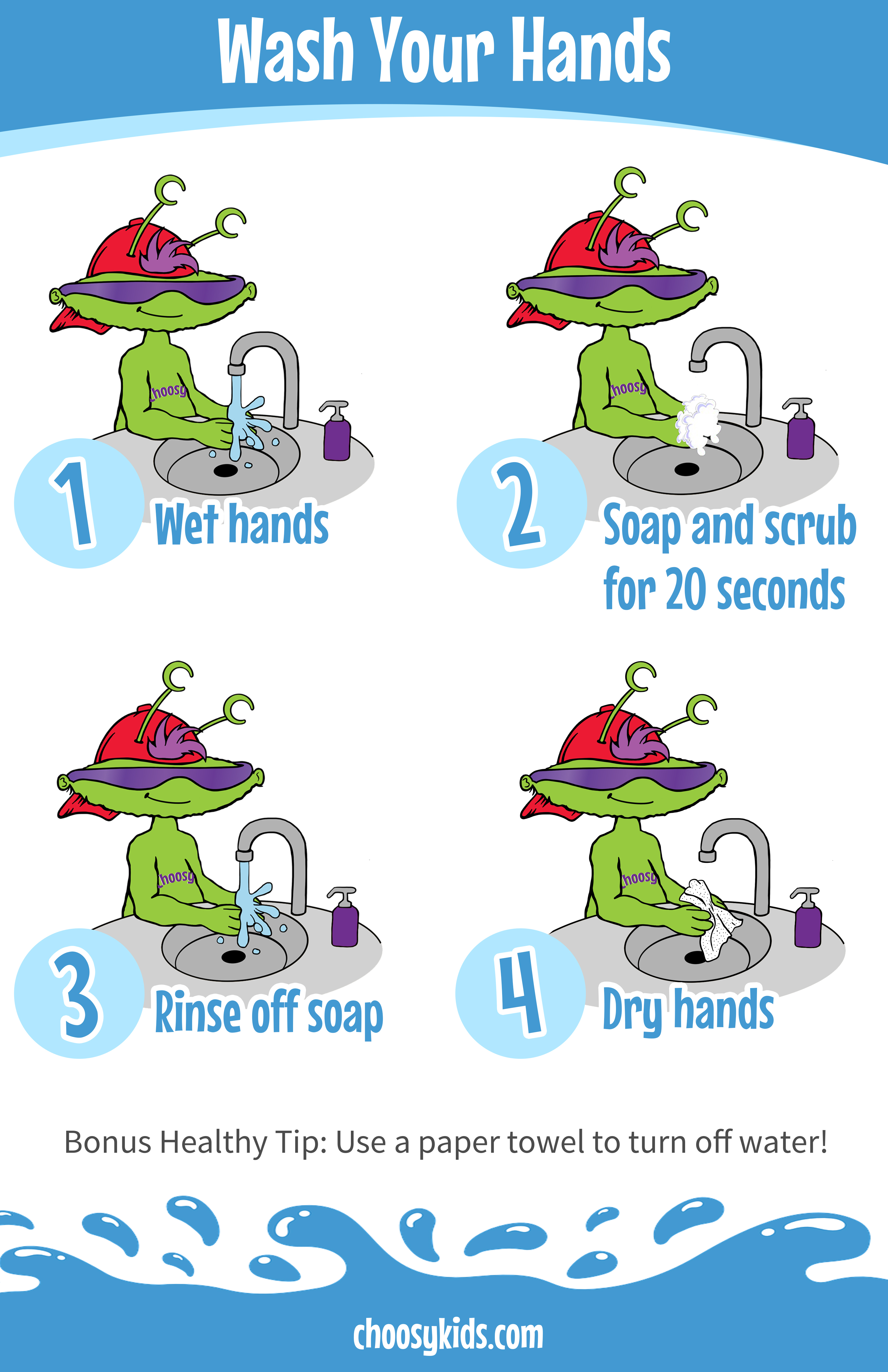 Choosy's Hand Washing Poster