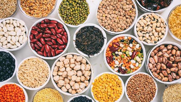 Reis und Hülsenfrüchte