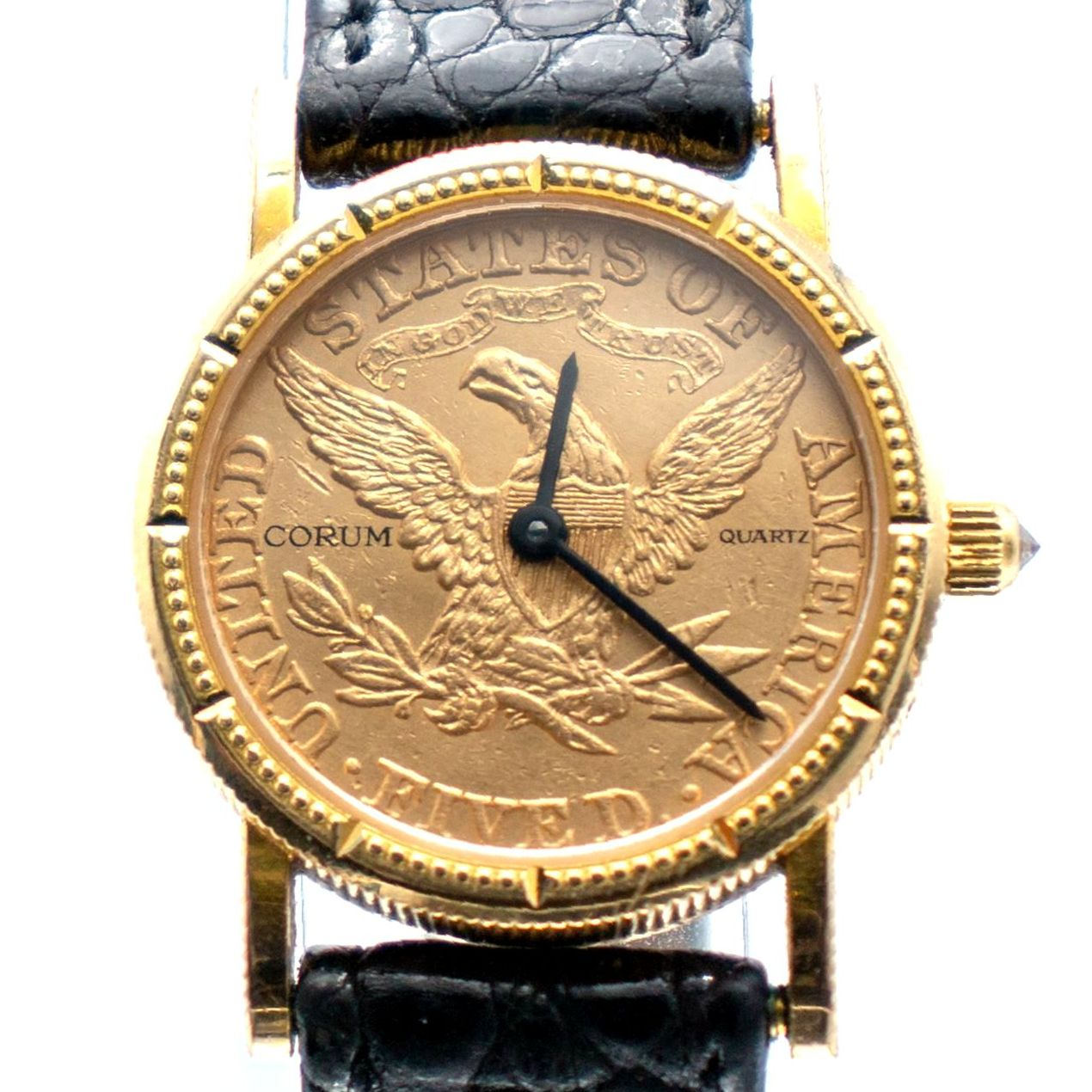 Vintage Corum Heritage Ladies Coin Watch  - 22K 1881 $5 Gold Half Eagle