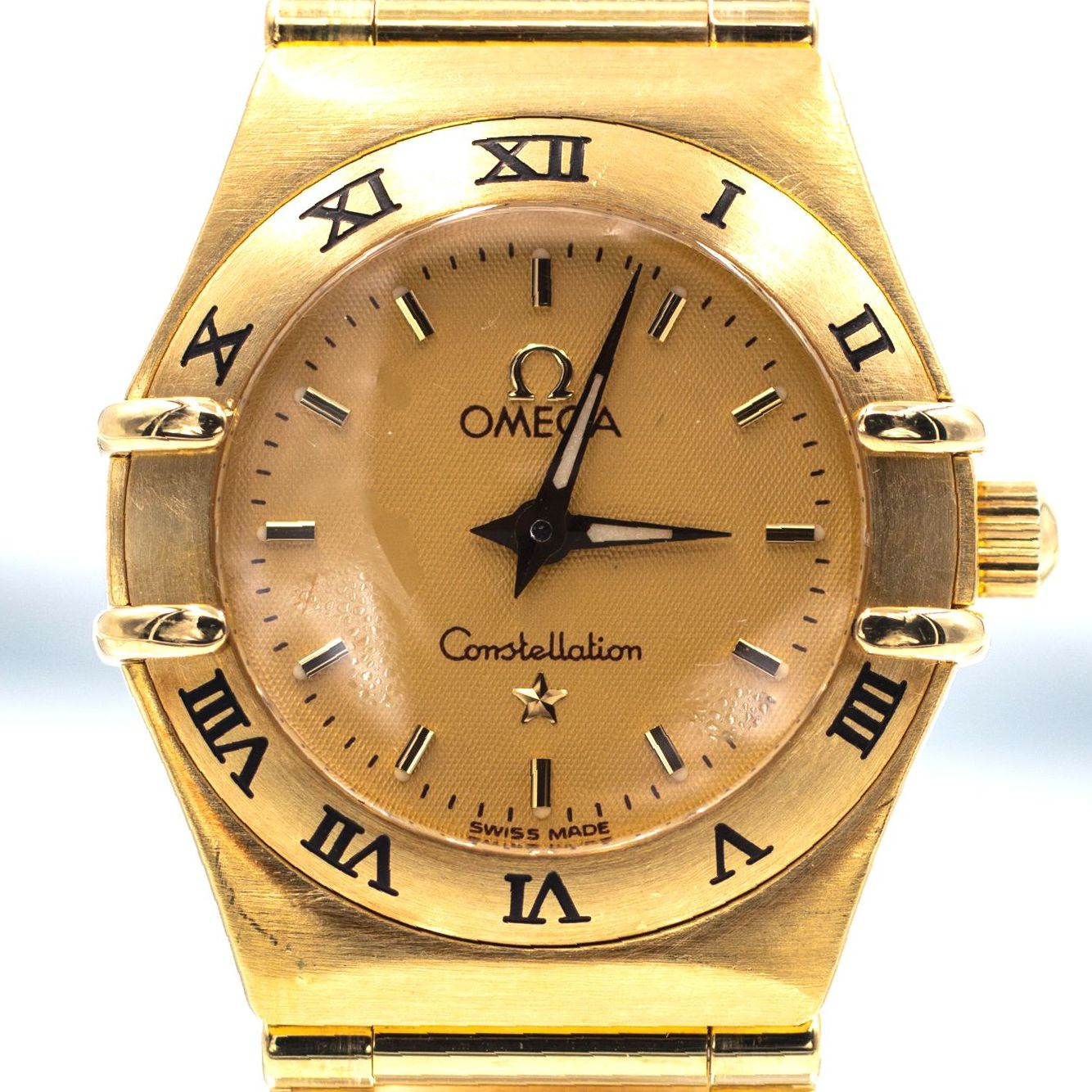 Omega Constellation Ladies 18K Gold Vintage ca. 1990s