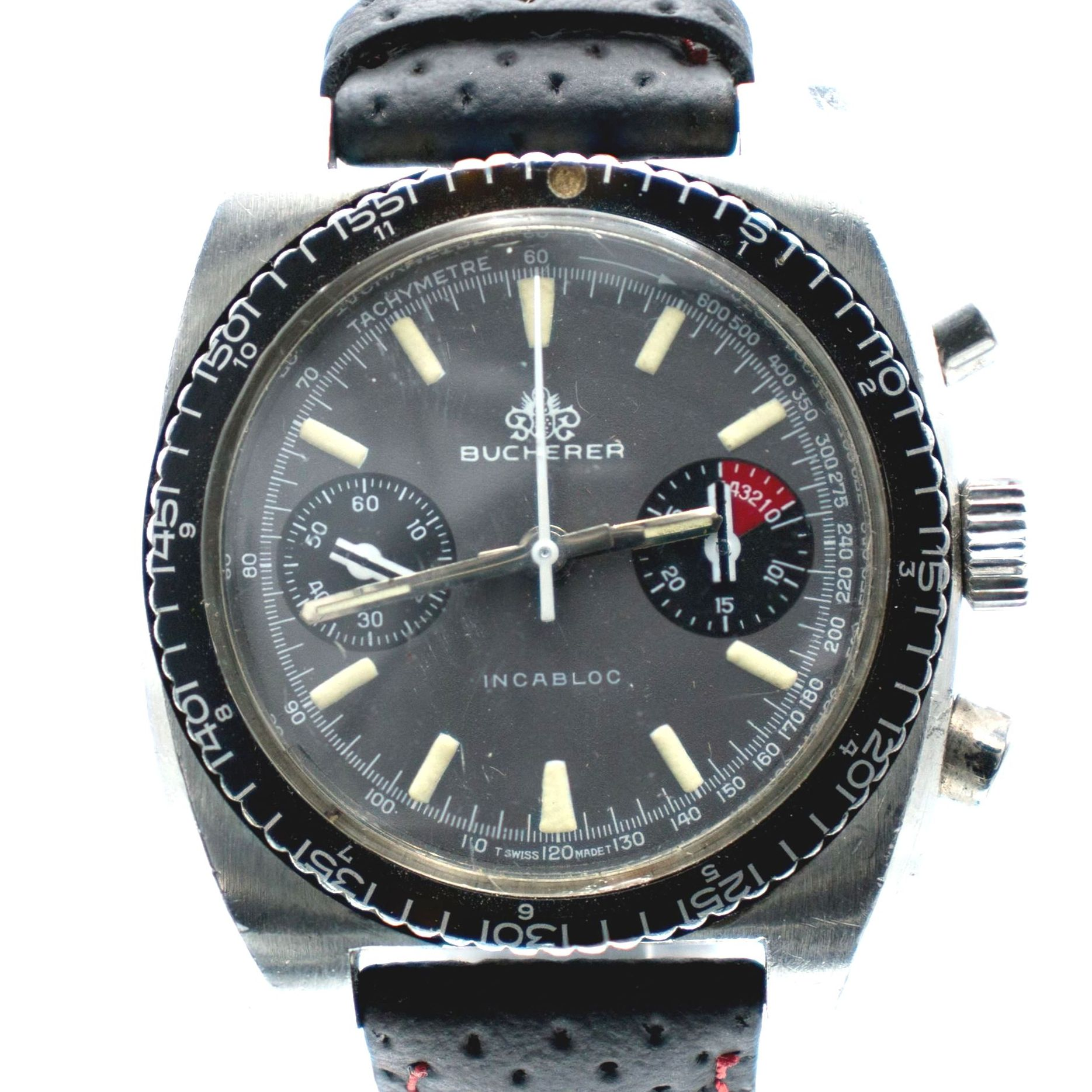 Vintage Bucherer Chronograph Diver With Valjoux 7733