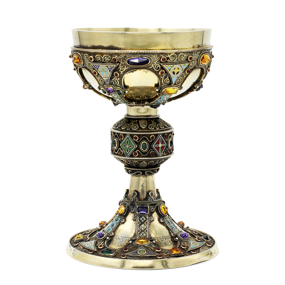 Antique Sterling & Large Sapphire Chalice With Incredible New Orleans History