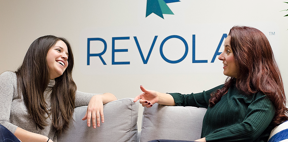 Jackie and Andrea at Revolar HQ