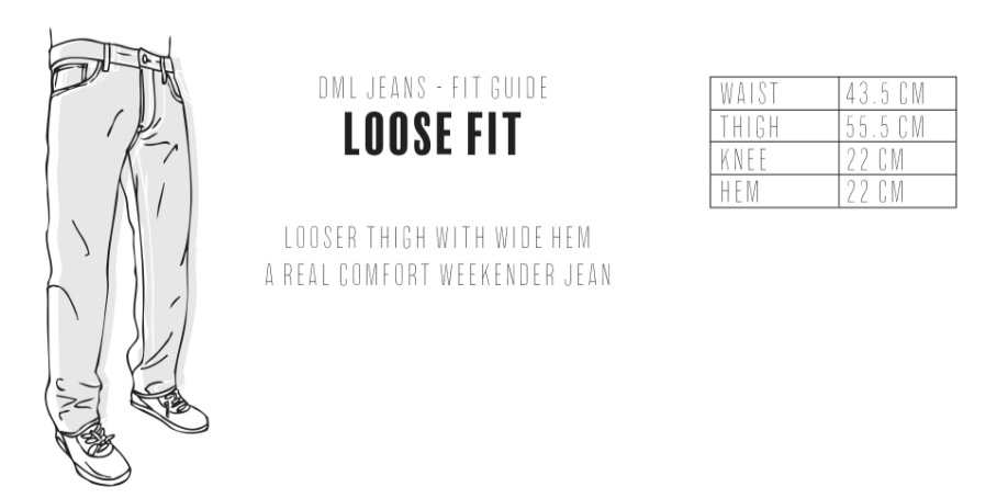 Dml Jeans - Loose Fit Size Guide