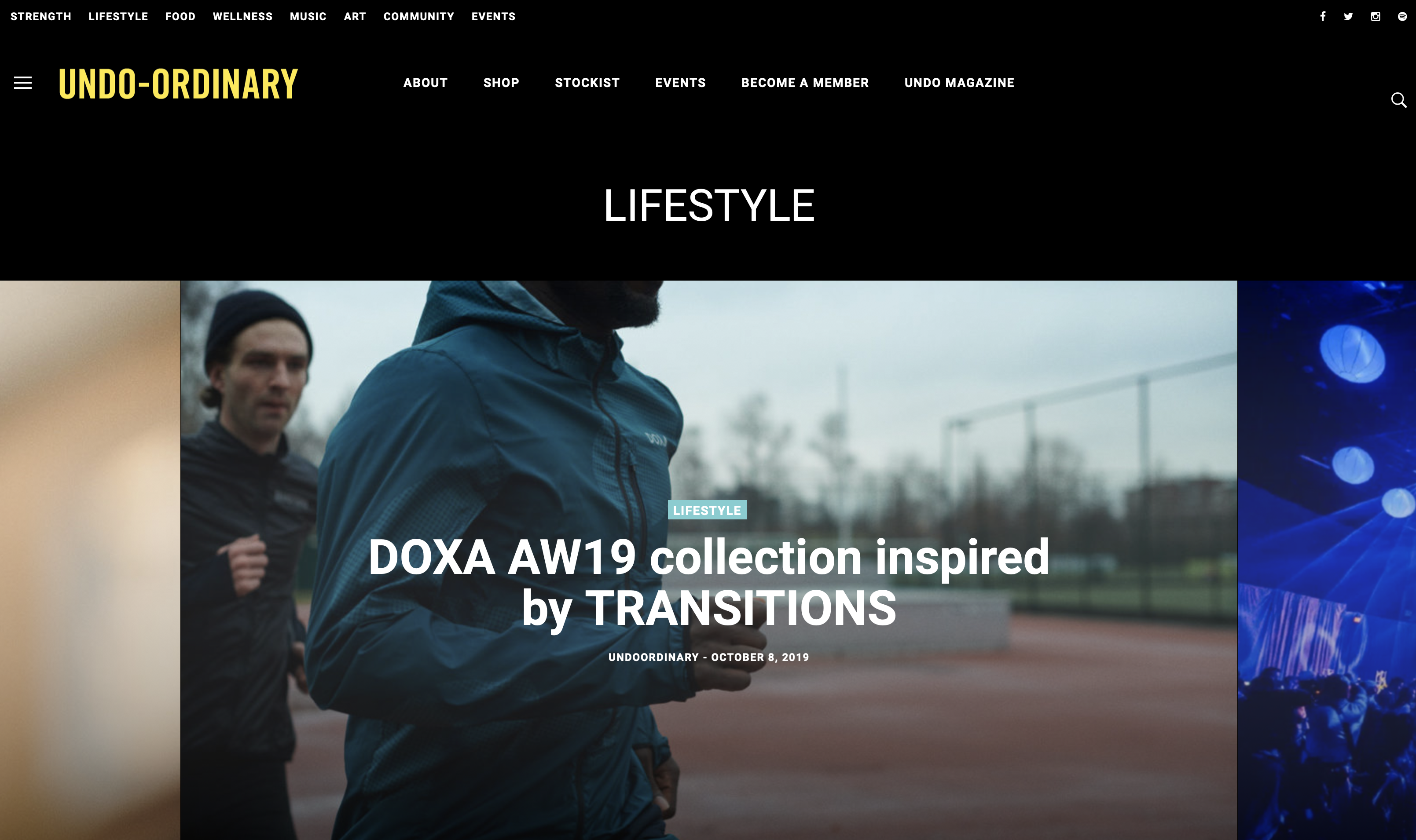UNDO Ordinary latest post about DOXA Transitions AW19