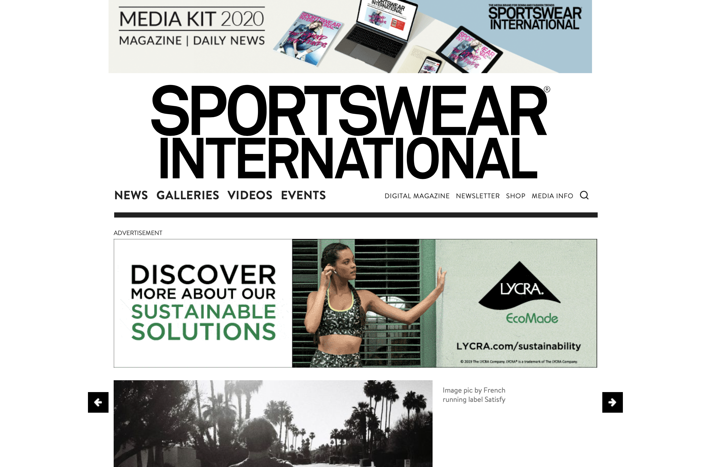 Sportswear International - Why running is the new cool - Doxa Run is featured.