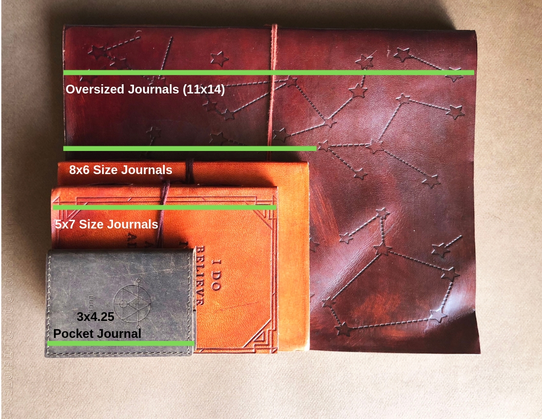 Leather Journal Size Chart – Soothi