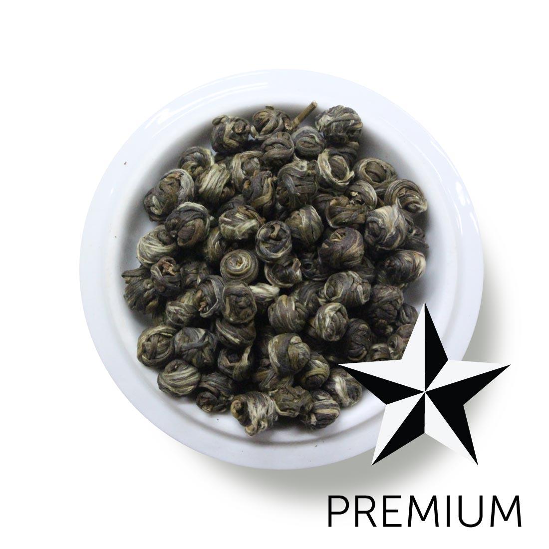 Premium Green Tea Silver Bud Jasmine Pearls