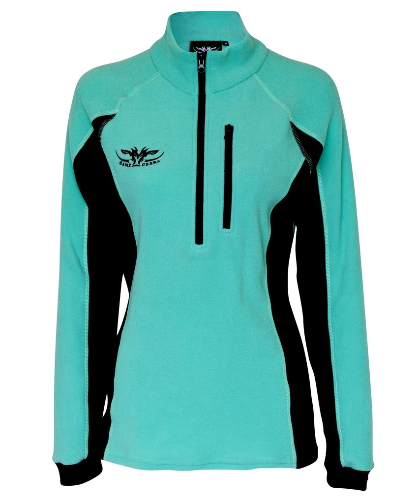 Ladies Micro Aqua Long Sleeve Fleece