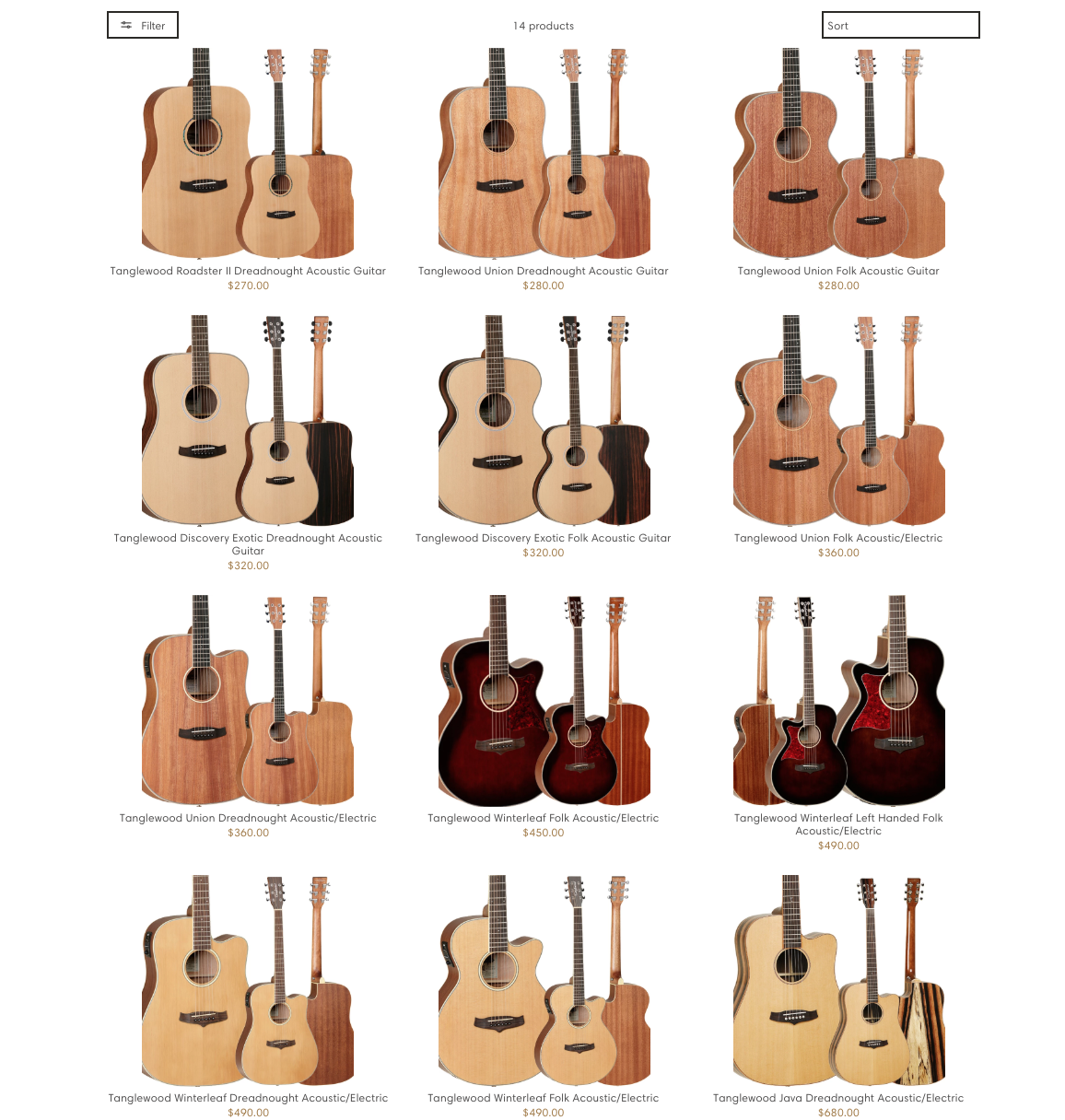 Shop online for Tanglewood guitars