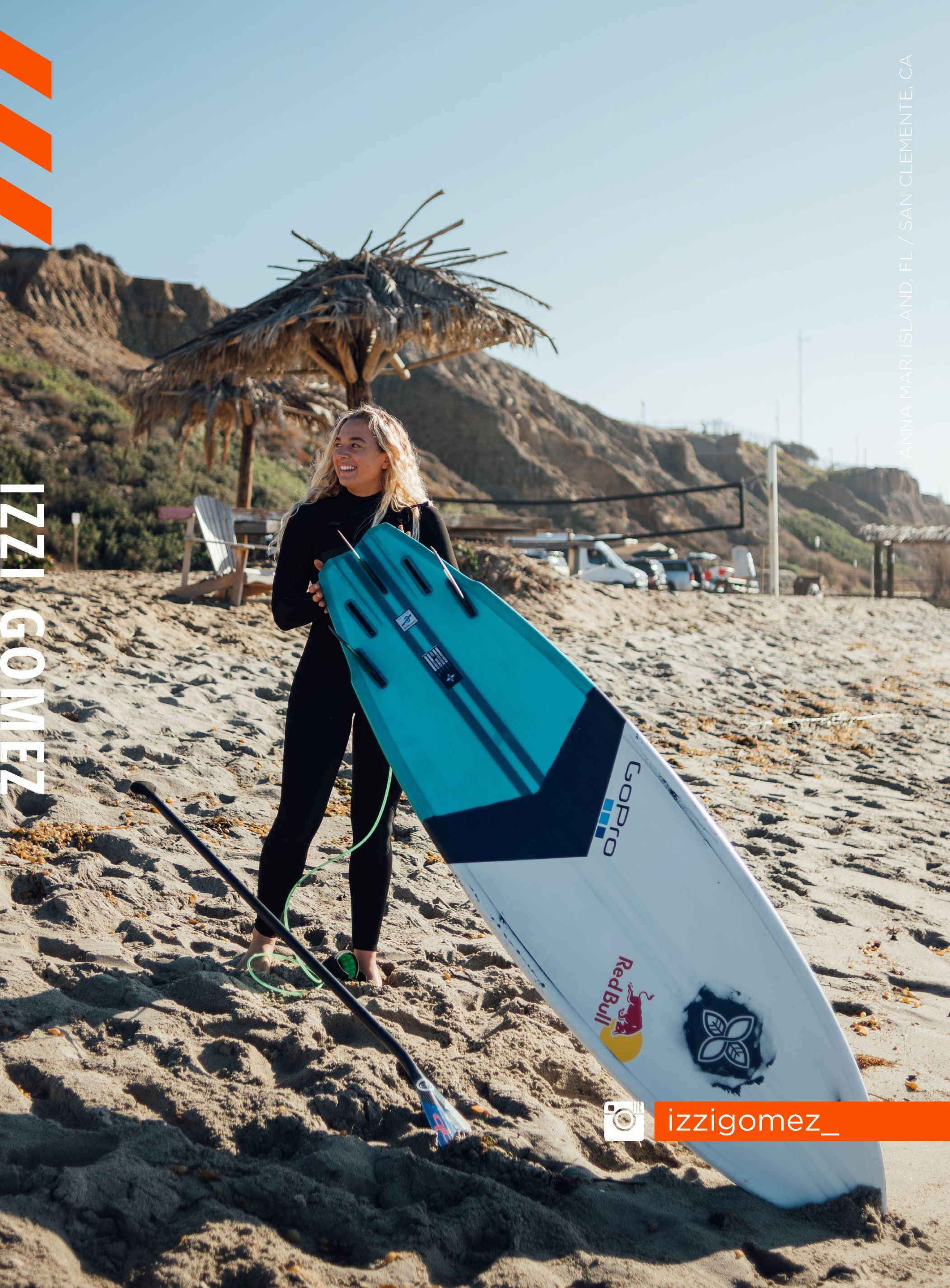 Member of the Infinity Surf Team Izzi Gomez