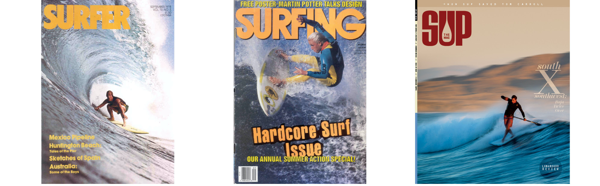 Infinity Surfboards featured on the cover of some of surfings biggest magazines