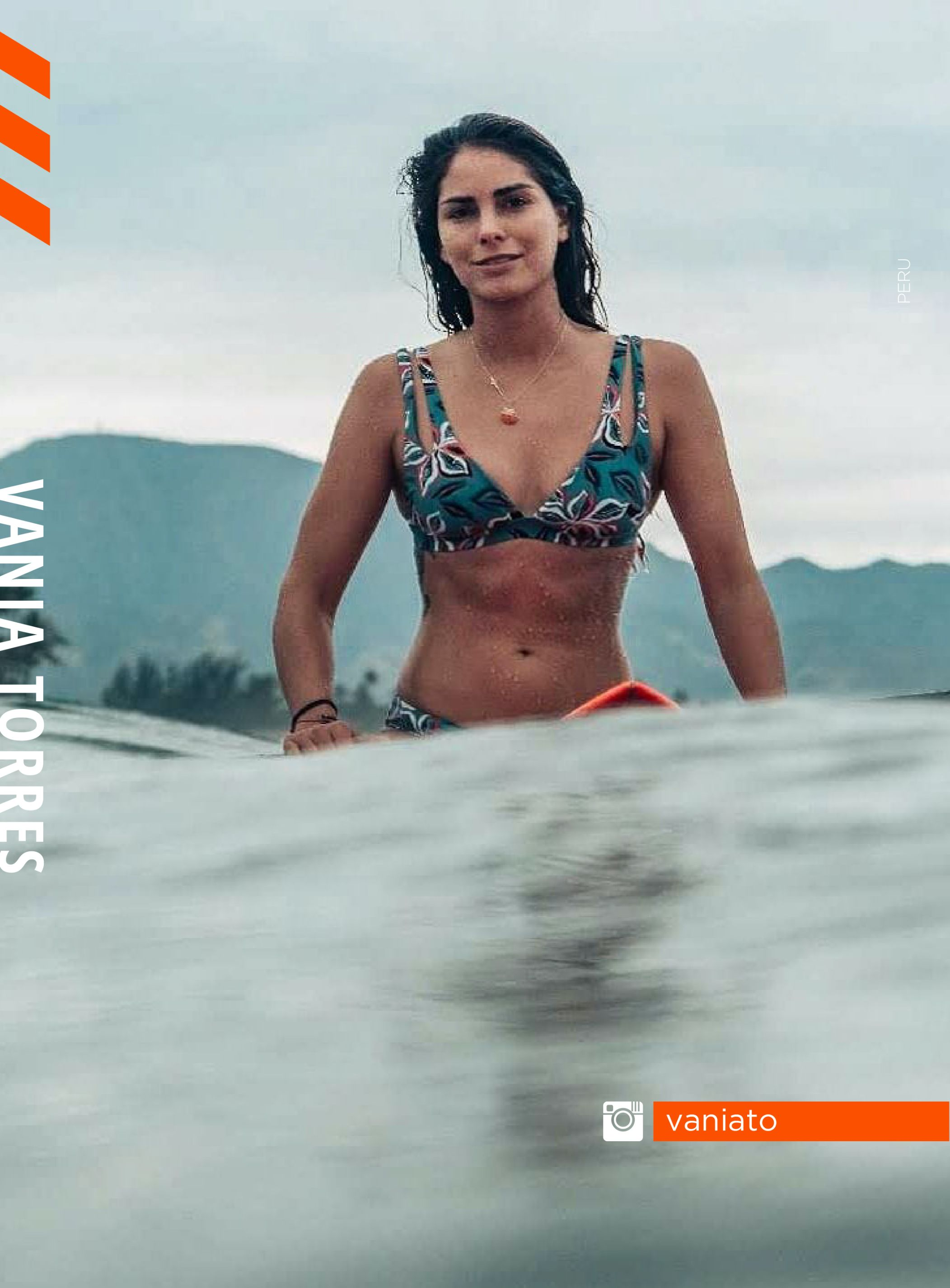 Member of the Infinity Surfboard team VANIA TORRES