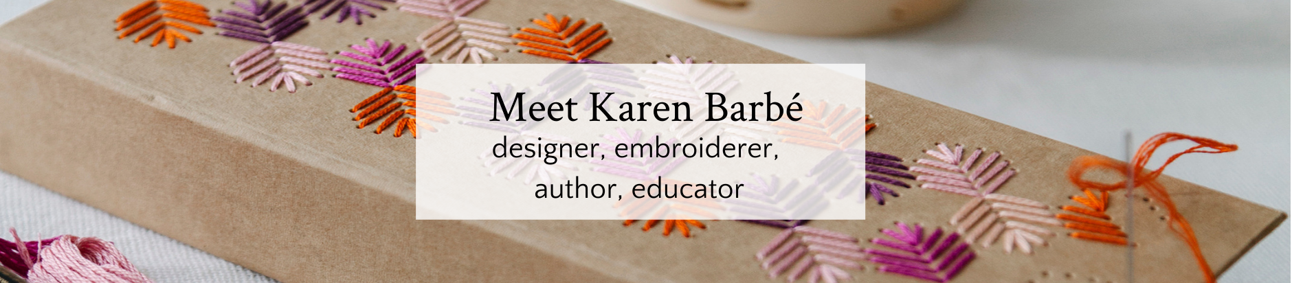 Embroidered pencil case from Karen Barbe