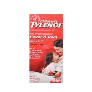 Tylenol Children's Fever and Pain Suspension Liquid