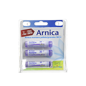 Arnica Montana 30ch / 30 C, 4g, Homeopthic Medicine, Multi Dose Tube by Boiron Canada