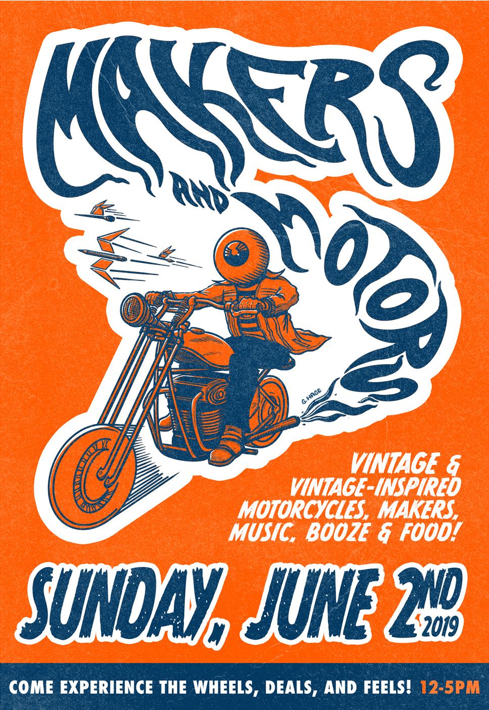 Makers & Motors at Edge of Urge, Sunday, June 2, 2019