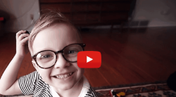 Buying kids glasses online with a free home try-on