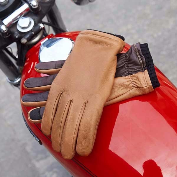 Oliver Leather Touchscreen Gloves - $138.00 USD