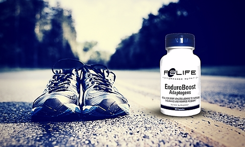 Athletes takes P2Life Enduroboost Adaptogens