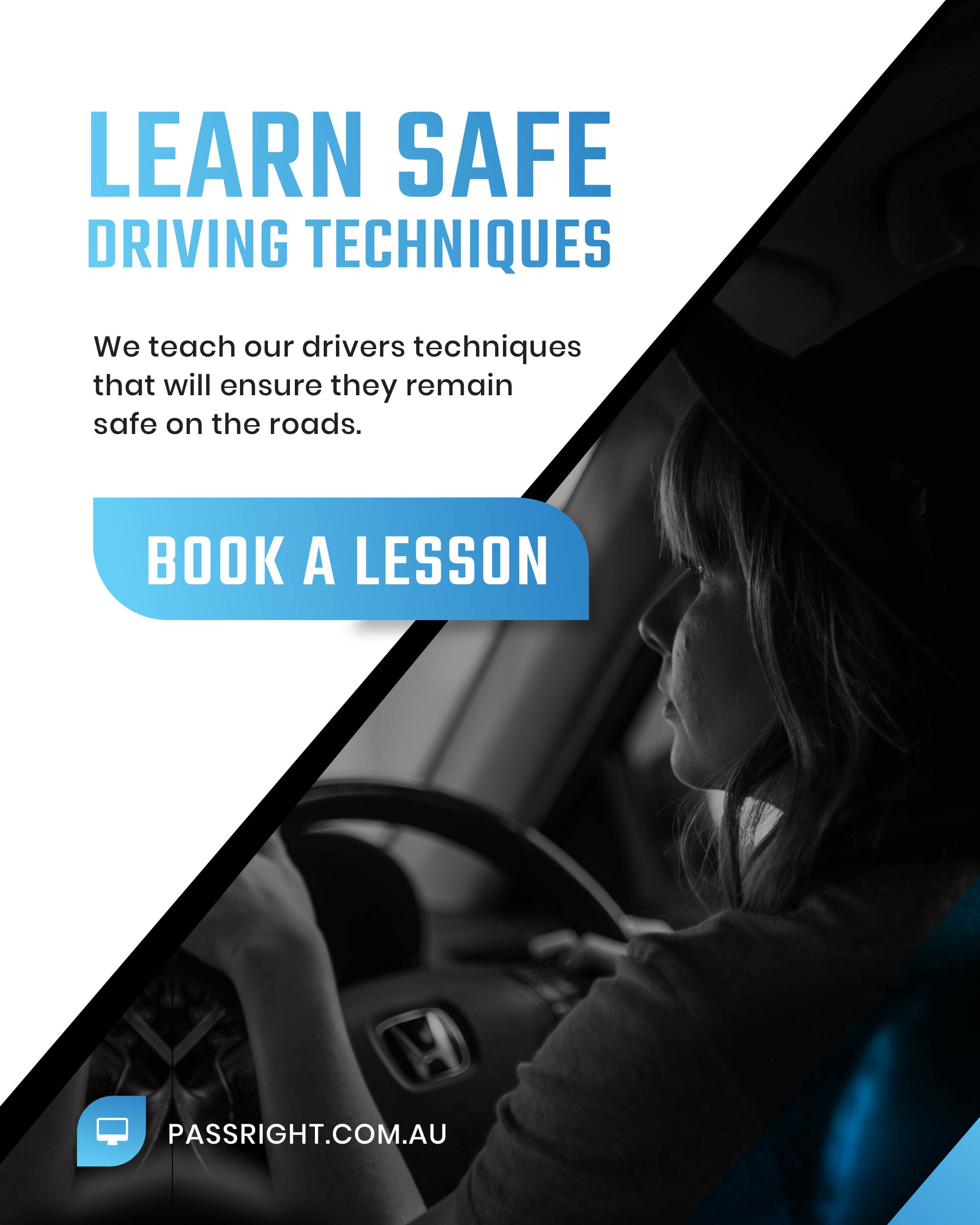 Book Lessons with Pass Right Driving School Gold Coast