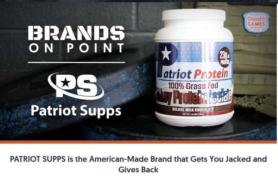 Patriot Supps - The Supplement Company that Wants to Make you Jacked and Give Back