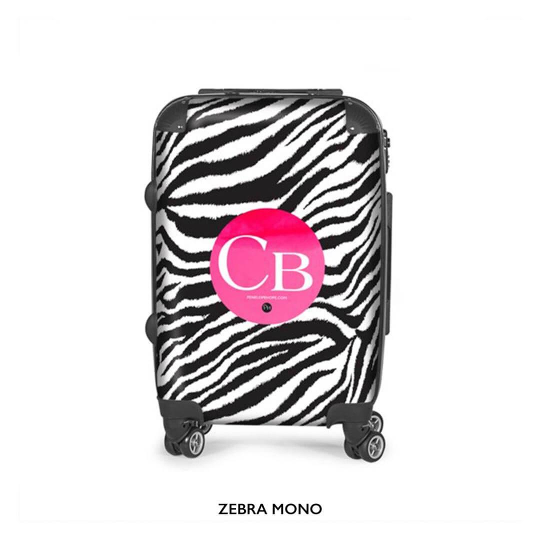 Zebra Mono Suitcase