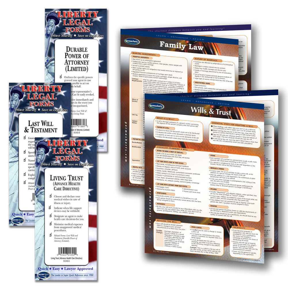 Family law legal planning kit by Permacharts