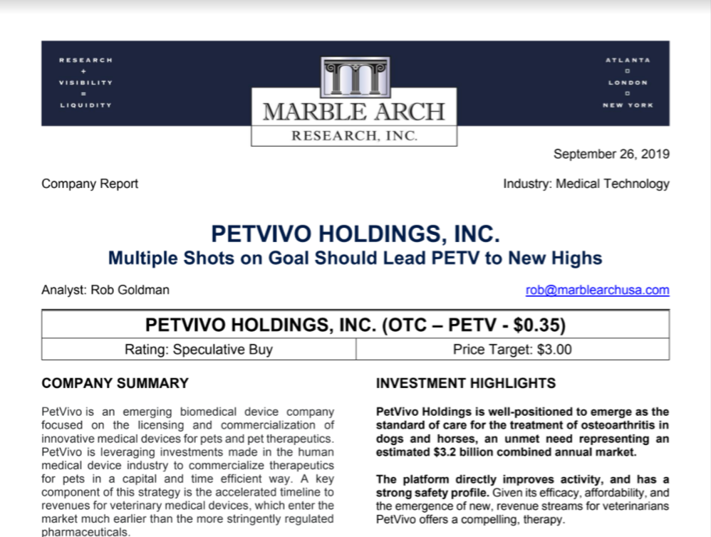 Marble Arch Research Study - Petvivo