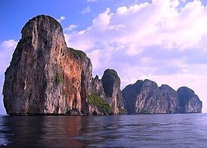The world famous Phi Phi islands