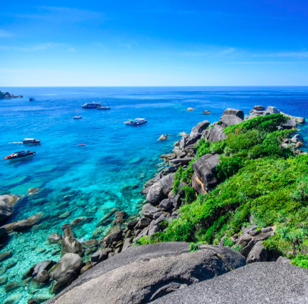 Scuba Diving and Snorkeling in Similan Islands, Thailand