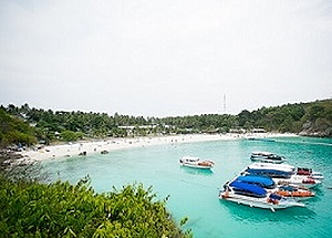 Clear water bay at Racha Yai