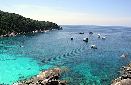 Similan island 9 has an incredibly beautiful bay