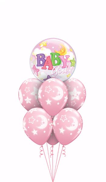 Globos de nacimiento niña