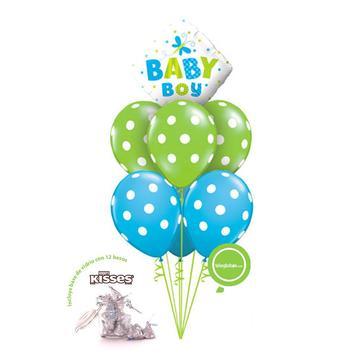 Globos y regalos de nacimiento de niño