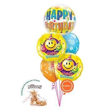 Globos y regalos de cumpleaños