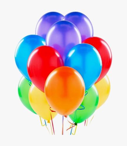 Globos de látex inflados con helio sueltos o por racimos, unicolores, estampados y con confetti