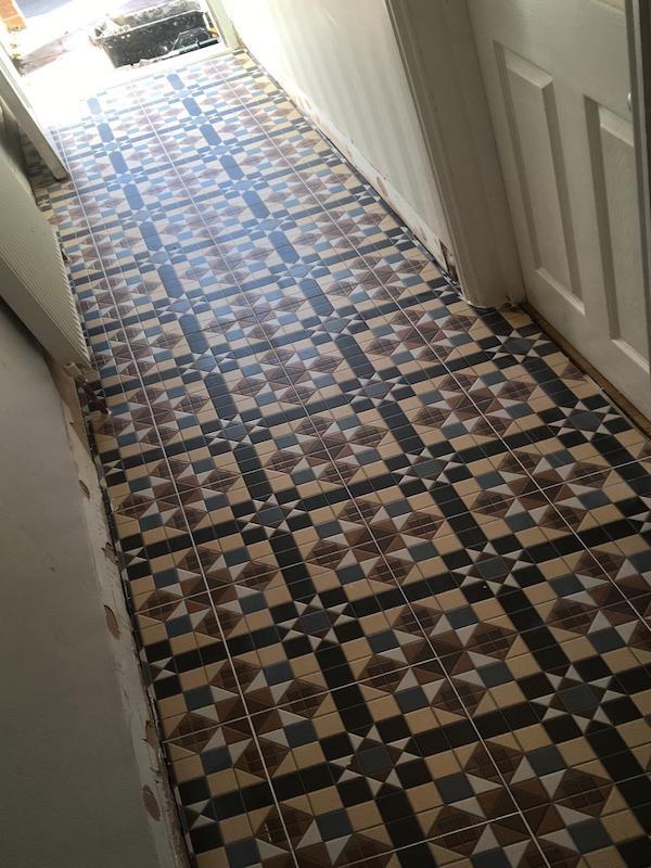 victorian effect floor tiles